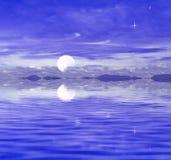 Variopinto di cielo blu illustrazione di stock