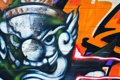 Variopinto sulla parete di lerciume immagine stock libera da diritti