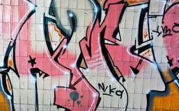 Variopinto un graffito Fotografia Stock Libera da Diritti