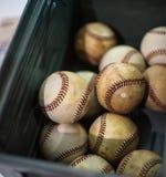 Varios béisboles estropeados Fotografía de archivo libre de regalías