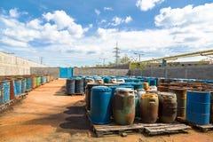Varios barriles de tóxico Foto de archivo libre de regalías