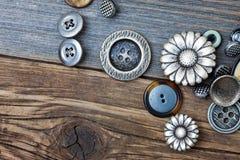 Varios botones del vintage Imagen de archivo
