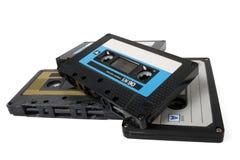 Varios cassettes audios   fotos de archivo