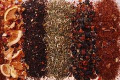 Varios colores y textura de té-anaranjado a la izquierda imágenes de archivo libres de regalías