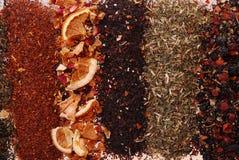 Varios colores y textura del té fotos de archivo libres de regalías