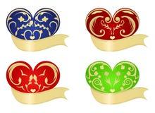 Varios corazones coloridos ilustración del vector