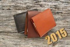 Varios cubren la cartera con cuero Imagen de archivo libre de regalías