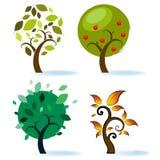 Varios diseños del árbol Imágenes de archivo libres de regalías