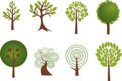 Varios diseños del árbol Foto de archivo libre de regalías