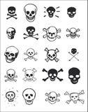 Varios diseños del cráneo imagen de archivo