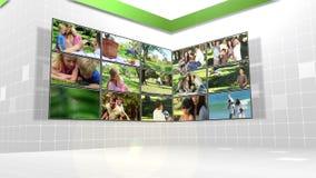 Varios diversos clips de las familias que juegan al aire libre ilustración del vector