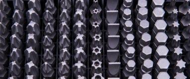 Varios diversos tipos de dígitos binarios Foto de archivo libre de regalías