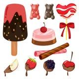 Varios dulces Fotos de archivo libres de regalías