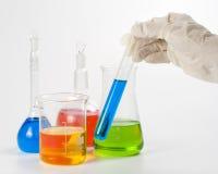 Varios frascos coloridos Fotografía de archivo libre de regalías