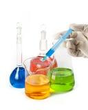 Varios frascos coloridos Foto de archivo