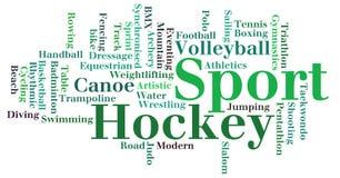 Varios gráficos del Info-texto del deporte Imágenes de archivo libres de regalías