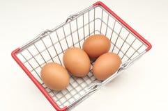 Varios huevos del pollo imagenes de archivo