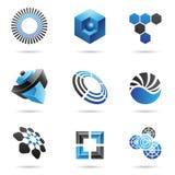 Varios iconos abstractos azules, conjunto 4 Fotografía de archivo