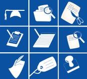 Varios iconos del papel stock de ilustración