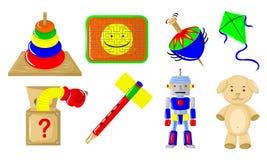 Varios juguetes stock de ilustración