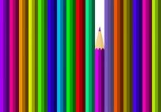 Varios lápices coloreados Imagen de archivo libre de regalías