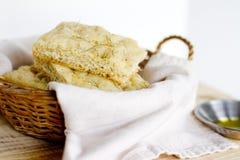 Pan de Focaccia Imagenes de archivo