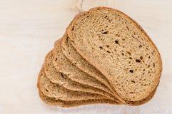 Varios pedazos de pan de centeno Foto de archivo