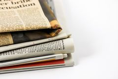 Varios periódicos Imagen de archivo libre de regalías
