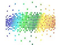 Varios pixeles de los colores Fotografía de archivo