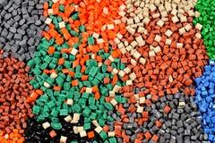 Varios polímeros teñidos Imagenes de archivo