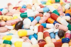Varios productos farmacéuticos Imágenes de archivo libres de regalías