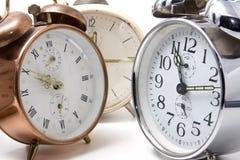 Varios relojes de alarma Imagenes de archivo