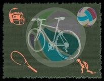 Varios símbolos del deporte Fotografía de archivo libre de regalías