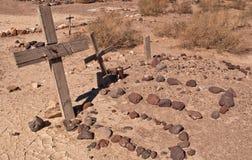 Varios sepulcros en el desierto Imagenes de archivo