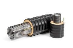 Varios tubos con el aislamiento Imagenes de archivo