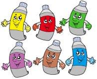 Varios tubos de colores Imagen de archivo