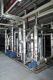 Varios tubos del frío en una fábrica Fotografía de archivo