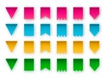 Varios typ flaga dla chorągiewek girland cztery elementy projektu tła snowfiake białego royalty ilustracja