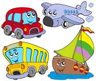 Varios vehículos de la historieta Fotografía de archivo libre de regalías
