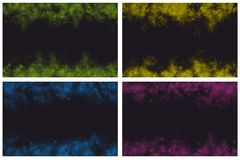 Various abstract background frames. Various abstract banner background frames on black background Royalty Free Illustration