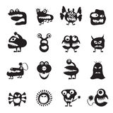 Various abstract monsters illustration Stock Photo