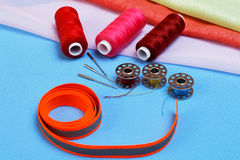 Various accessories for sewing Stock Photo