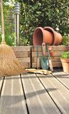 Various accessories on wooden deck Royalty Free Stock Photography