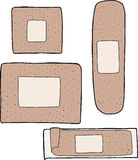 Various Adhesive Bandages Stock Photo