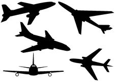 Various aeroplanes illustration Stock Image