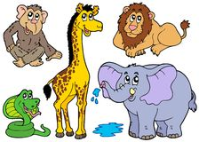 Various African animals stock illustration