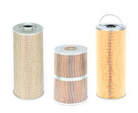 Various air and oil filters Royalty Free Stock Image