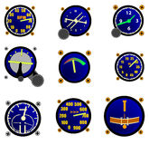 Various Aircraft Gauges Royalty Free Stock Photography