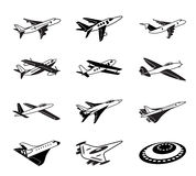 Various airplanes in flight Royalty Free Stock Photography