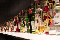 Free Various Alcohol Bottles Royalty Free Stock Images - 130498169